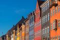 Colorful facades of Copenhagen Nyhavn district