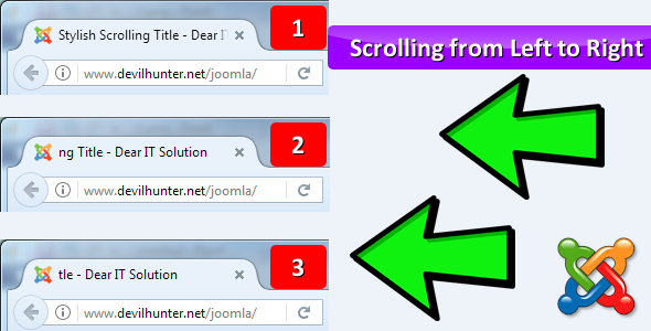 Stylish Scrolling Title - Joomla website's Title ???will ?auto scroll from left to right