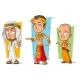 Cartoon Arabian Egyptian and Asian Character Set