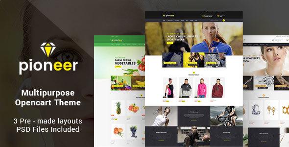 Pioneer - Responsive Multipurpose Opencart Theme | Sportswear Store | Jewellery Store | Food Store