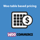 Woo Table Based Pricing