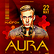 Minimal Aura Sounds Dj Party Flyer