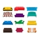 Vector Sofa Set Icon. Colored Collection Isolated