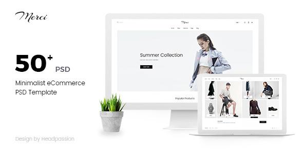 Merci | Minimalist eCommerce PSD Template