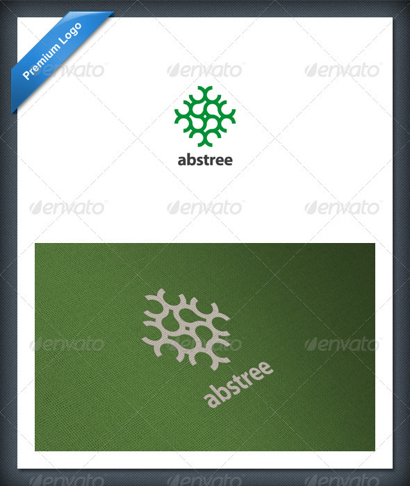 Abstract Tree Logo Template