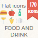 Food and Drinks Flat icon