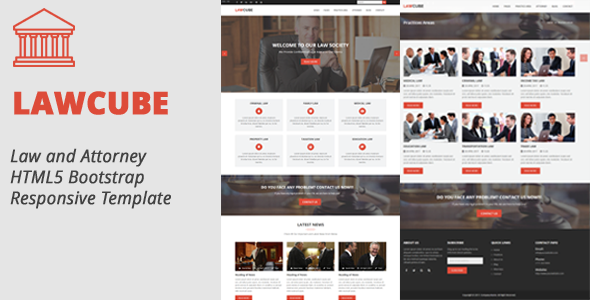 LawCube - Law and Attorney Responsive HTML5 Template