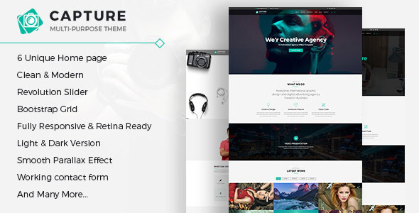 Capture - One Page Multipurpose HTML Template