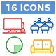 Coworking icons pack