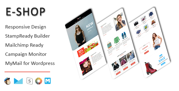 E-Shop – Ecommerce Responsive E mail Template with Stampready Builder Access (E mail Templates)