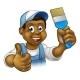 Painter Decorator Cartoon Character