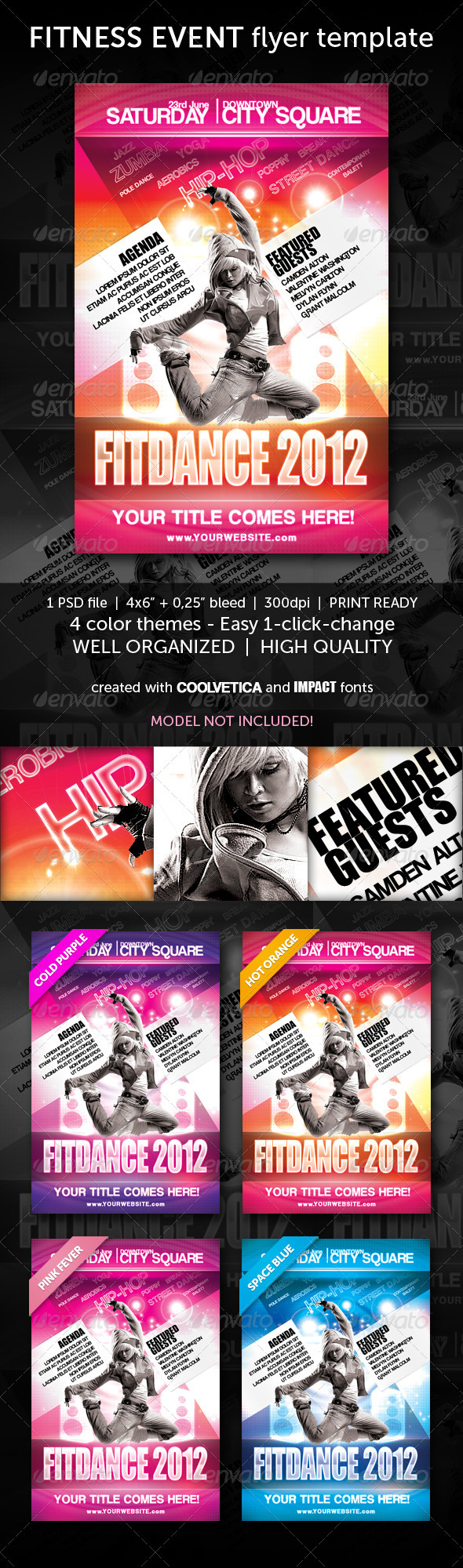 GraphicRiver Multipurpose Fitness Flyer 1964169