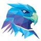 Colorful Polygons Eagle Head Logo