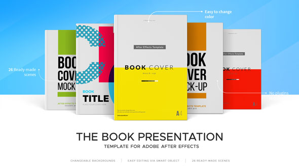 the book presentation kit commercials after effects templates, Templates