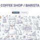 Coffee Shop Doodle Concept
