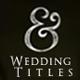 11 Wedding Titles