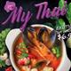 Thai Food Restaurant Poster / Flyer Template