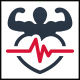 Fitness Health Heart Logo