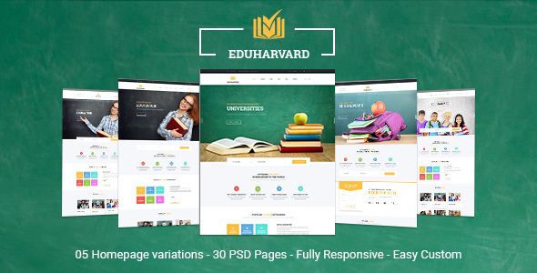Download Eduharvard - Multi-Concept Education & Courses HTML Template