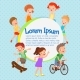 Cartoon Vector Kids Poster. Fun Children