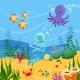 Underwater Background Illustration with Ocean