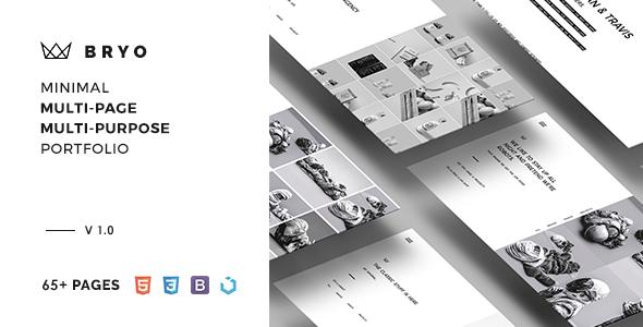 Bryo – Minimal Multi-Purpose Portfolio Template