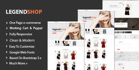 LegendShop One Page Multi Purpose eCommerce Templates