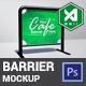 Cafe Barrier / Fence Mockup