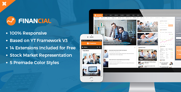 Financial III - Responsive Business and Financial Joomla Template