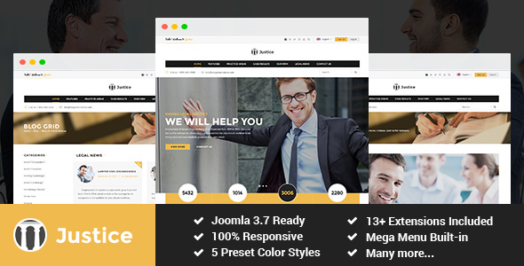 Justice - Attorney and Law Firm Joomla Template