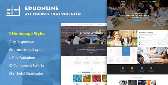 Eduonline - Education & University Joomla Template