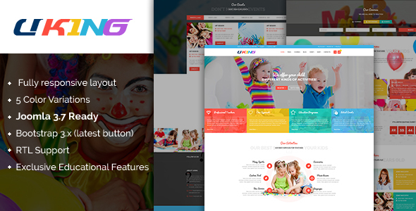 Uking - Responsive Joomla kindergarten Template