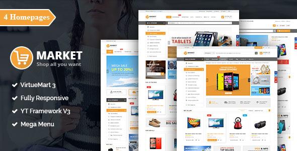 SJ Market - Responsive Multipurpose VirtueMart Theme