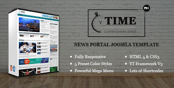 SJ Time - Responsive News Portal Joomla Template
