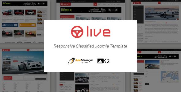 SJ Live - Responsive Classified Joomla Template