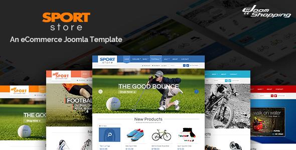 SJ Sport Store - Responsive Joomla Template