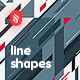 Abstract Flat Line Shapes Backgrounds
