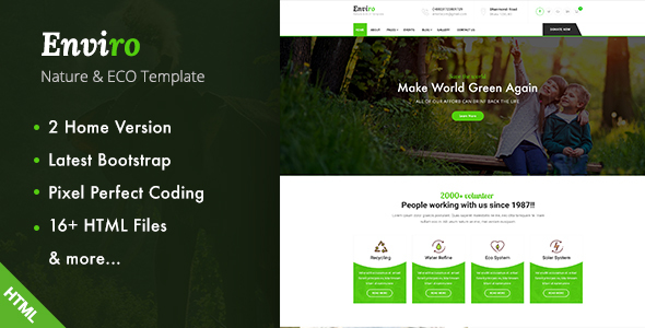 Image of Enviro - Environment / Non-Profit HTML Template