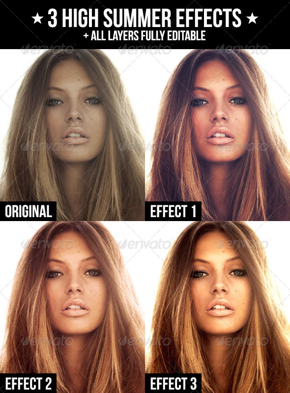 GraphicRiver 3 High Summer Effects 1950436