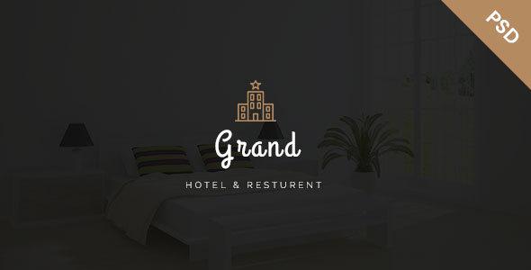 Grand - Hotel & Resturent PSD Template