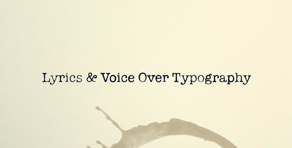Lyrics and voice over typography retro envato for After effects lyric video template