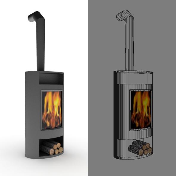 3DOcean Portative Mobile Fireplace 20074598