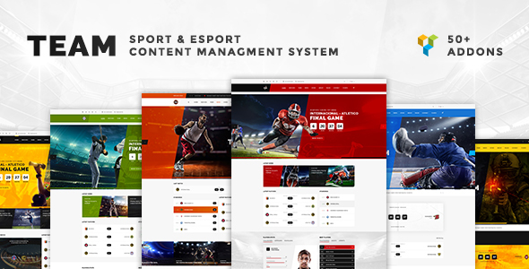 Team - Multisport & eSport WordPress Theme