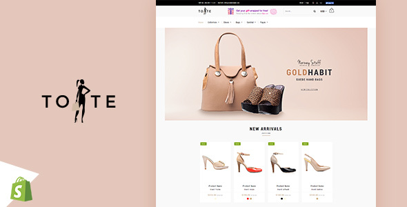 Tote | Shoes and Bags Shopify theme