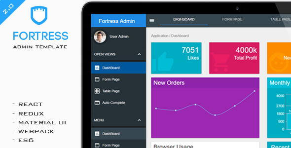 Fortress - React Admin Template