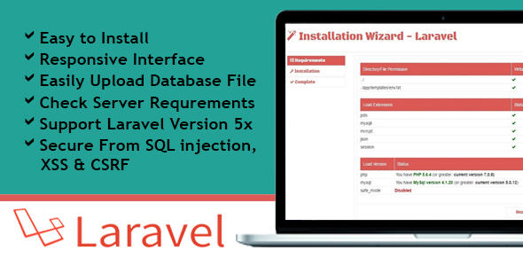 Installation Wizard – Laravel (Miscellaneous) images