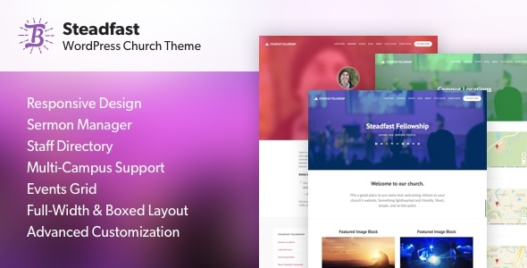 Image of Steadfast - Responsive WordPress Church Theme