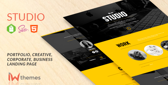 Studio - Portfolio, Creative, Corporate, Business Landing Page
