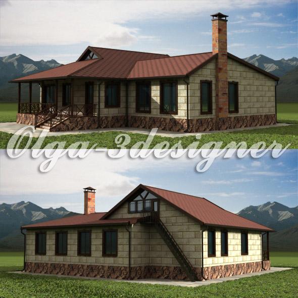 3DOcean Cottage 20078410