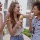 Young Women Having Ice Cream